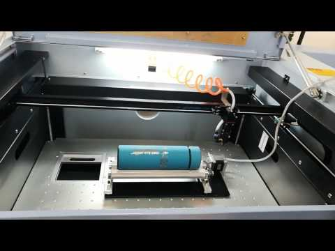 How to use Chinese Co2 Laser to engrave Round object -install a rotation device