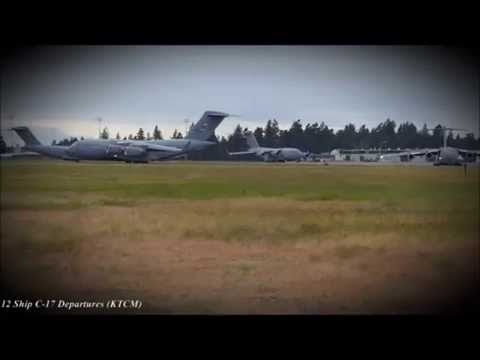 12 Ship C-17 Departures at McChord AFB.