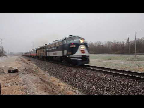 Wabash 1189 Leads NS 957 Christmas Train At Decatur Illinois