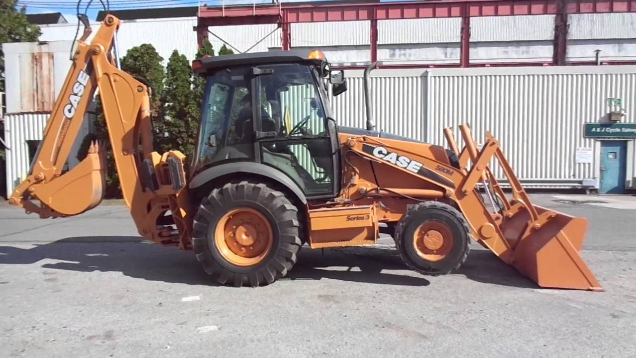 2009 case 580m series 3 backhoe loader 2970 hrs 4x4 extendahoe ac heat  [ 1280 x 720 Pixel ]