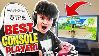 15 Year Old Kid Wins Fortnite in FaZe Tfue's GAMING SETUP!! (Best Console Player)