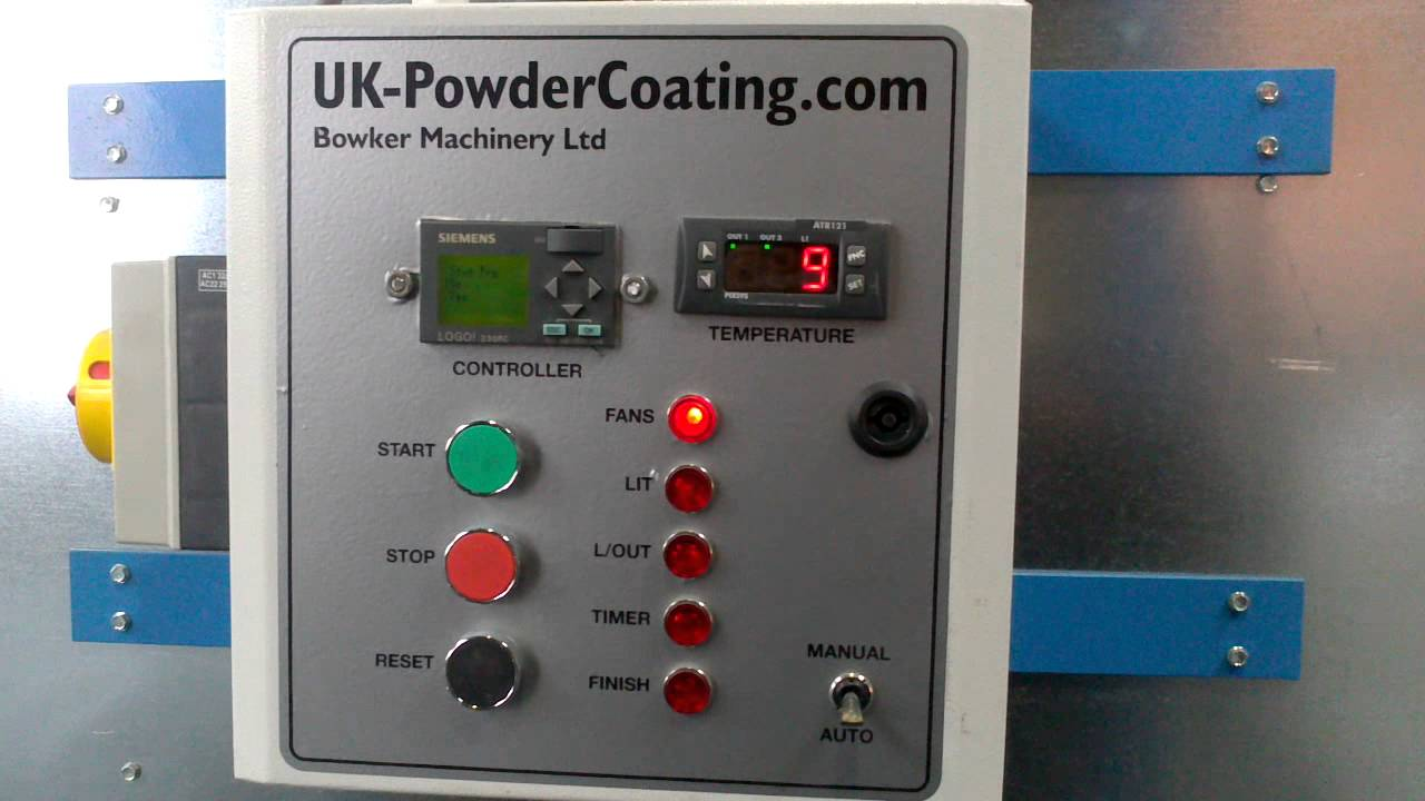 powder paint curing oven siemens plc control panel