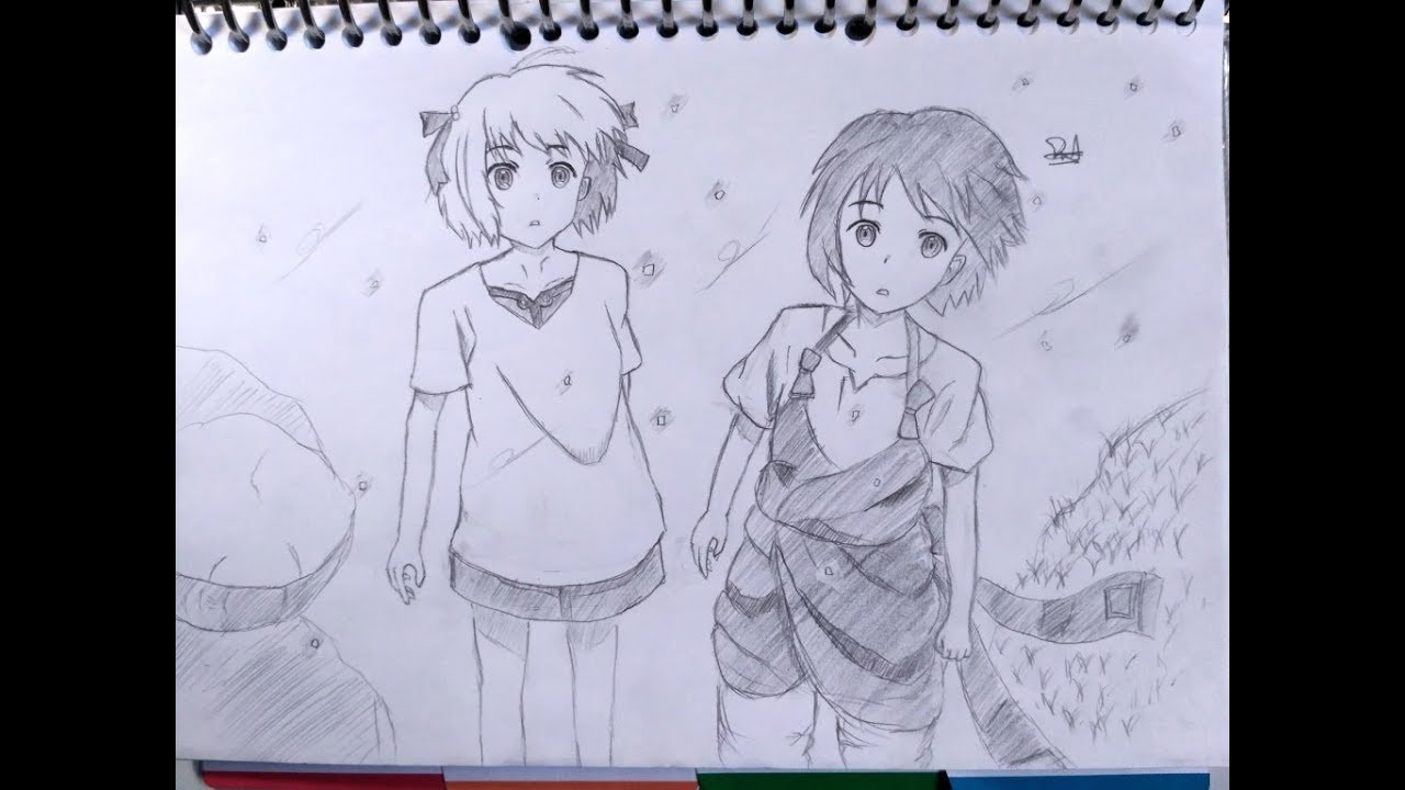 Menggambar anime couple speed drawing indonesia