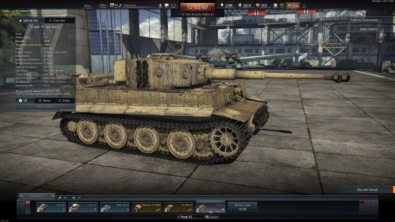 War thunder tiger h gameplay youtube channel