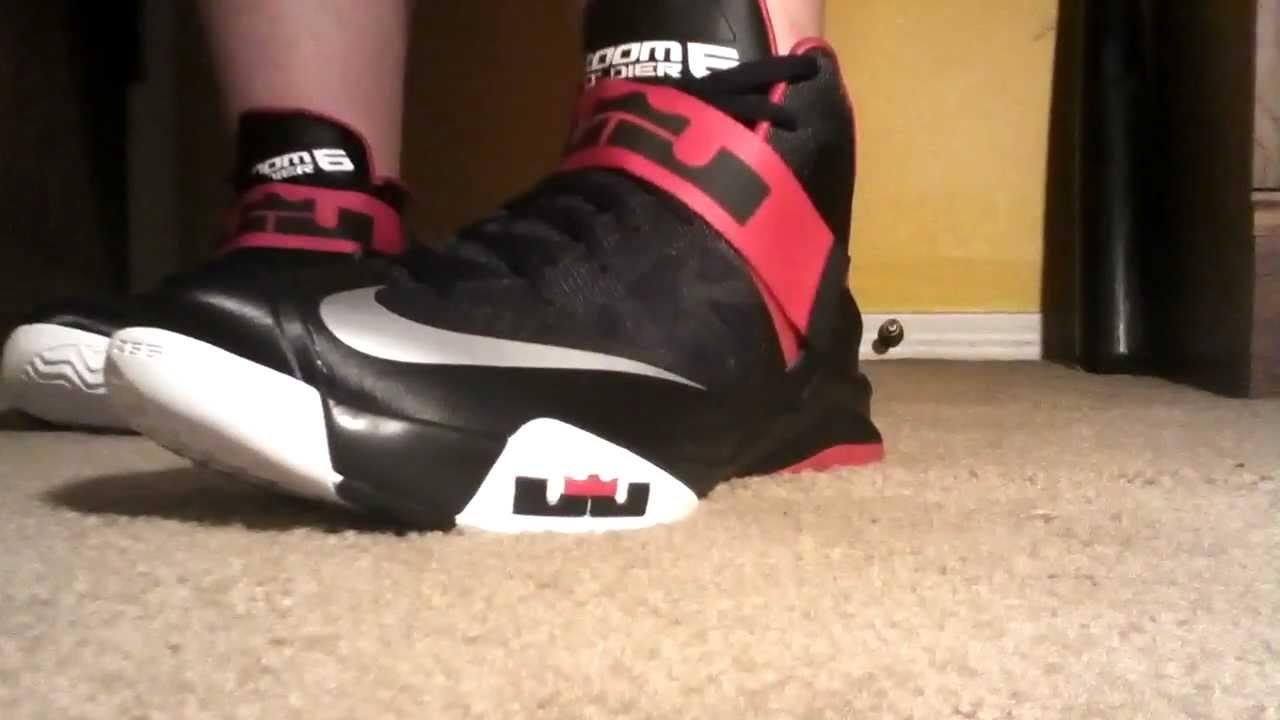 buy popular 6367e 979e4 Nike Zoom Lebron Soldier 6 on feet video - YouTube