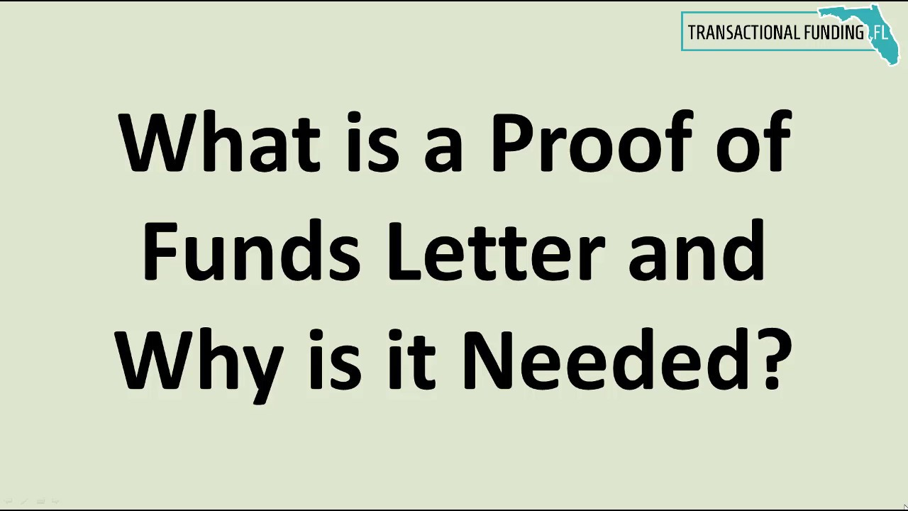 Lovely What Is A Proof Of Funds Letter And Why Is It Needed?