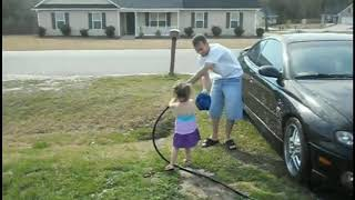 Funny day washing car **dad gets Revenge**