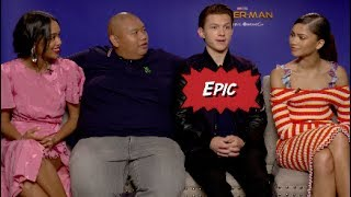 Spider-Man: Homecoming cast with Scott Carty