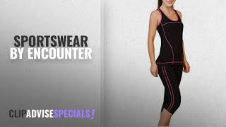 Top 10 Encounter Sportswear [2018]: Encounter Womens Athletic Yoga Gym Fitness Tank Top and Yoga