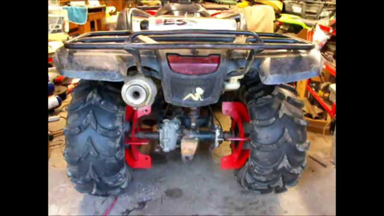 Honda 420 Rancher >> Honda Rancher 420 Big Gun Exhaust - YouTube