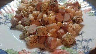 салат из фасоли с колбасой. зимний простой вкусный салат