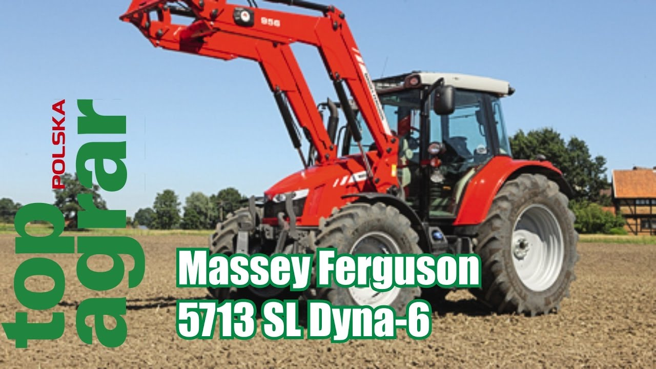 Massey Ferguson 5713 SL Dyna6 – test ciągników 120 KM – top agrar