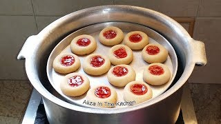 Biscuit Recipe Without Oven - Biscuit Recipe - Cookies Recipe - Jam Biscuits - Aliza In The Kitchen