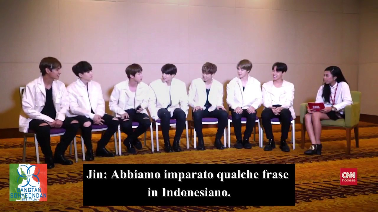 170501 CNN Indonesia BTS Interview (SUB ITA) pt 2 - YouTube