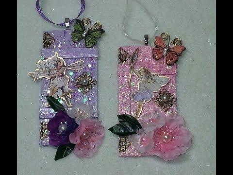 DIY~Beautiful Glitzy Fairy Door Ornaments! So Easy!