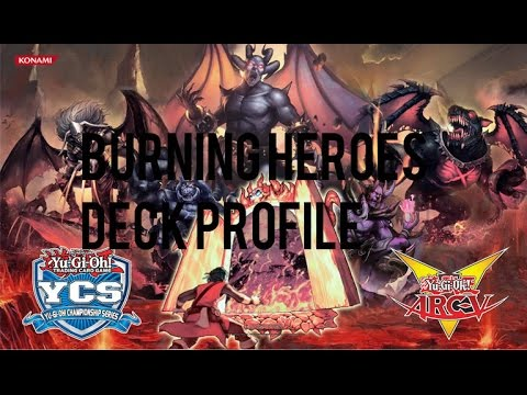 Yu-Gi-Oh! 4th Place Burning Heroes Deck Profile