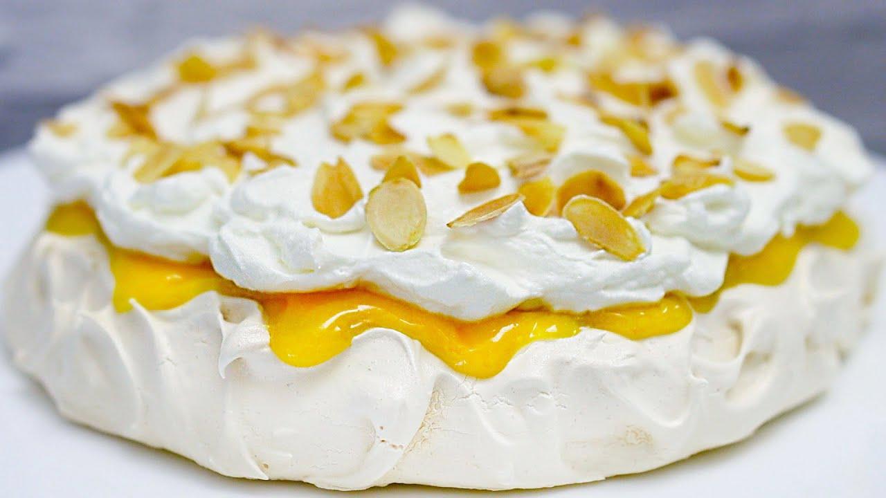 Torta merengue con curd di limone 🍋