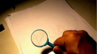 Magnifying glass pencil