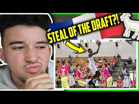 Sekou Doumbouya Highlights Reaction 2019 NBA Draft Detroit Pistons CSP Limoges Jeep Elite & Eurocup
