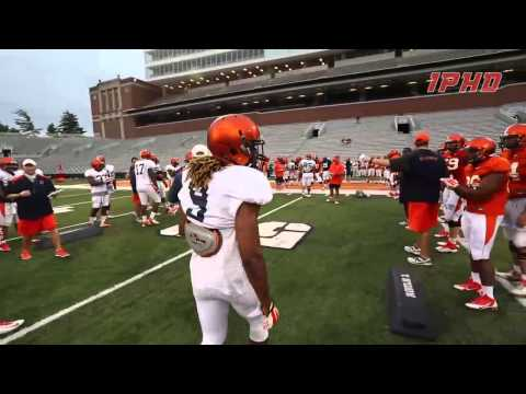 Illinois Football Gauntlet Drill 8/8/14