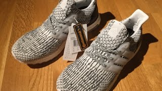54d9f75b3dda2 Close-Up 2017 Unboxing Zebra   Oreo Adidas Ultra Boost 3.0 White Black  S80636