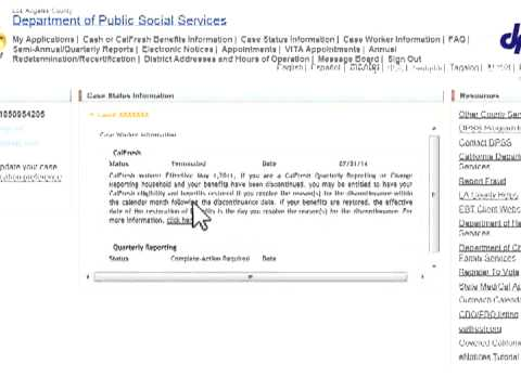 Los Angeles Department of Public Social Services YourBenefitsNow