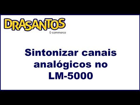 Sintonizar canais Analógicos no receptor antena parabolica lemon LM-5000