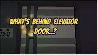 What's Behind Elevator Door In Bank..? -Jailbreak | The Weird Roblox