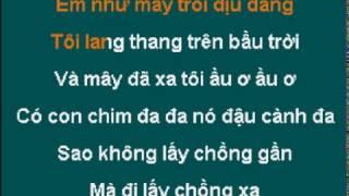 [KARAOKE] Tiếng Hát Chim Đa Đa - Quang Linh