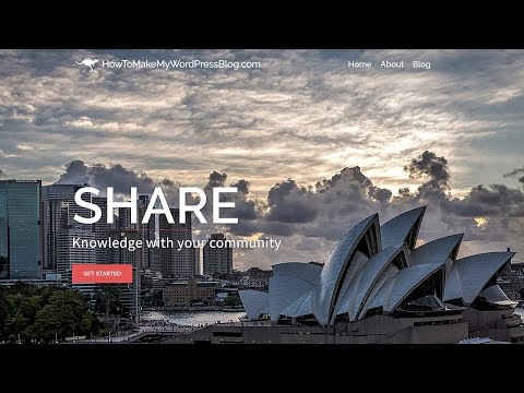 How To Make a WordPress Website – Sydney Theme – 2019