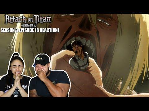 COMMANDER ERWIN OR ARMIN?! Attack On Titan Season 3 Episode 18 REACTION!!!