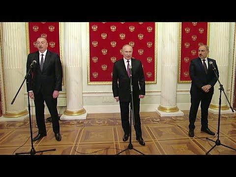 В Кремле состоялись переговоры по Нагорному Карабаху лидеров России, Азербайджана и Армении.