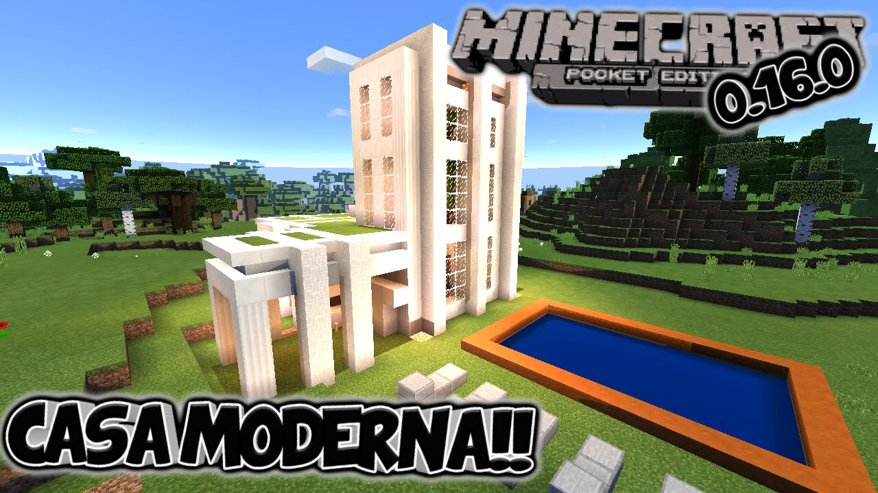 la mejor casa moderna para minecraft pe pocket edition 0