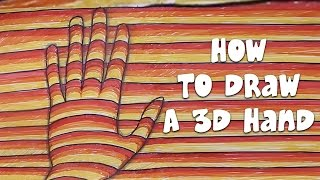 How To Draw A 3D Hand | Easy Step By Step Ways To Learn Drawing