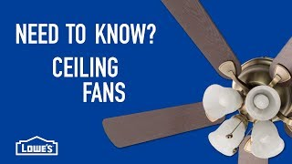 Need to Know? Ceiling Fans