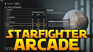 STARFIGHTER ARCADE GAMEPLAY - Star Wars Battlefront 2