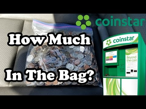 cashing-in-large-bag-of-coins-at-coinstar-–-how-much-did-we-get?-750-gaw-winners!
