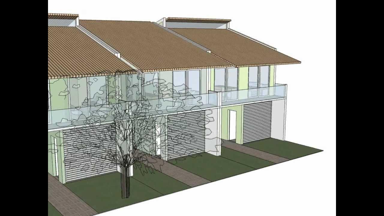 Design ignez ferraz casas geminadas modelo 1 acesso for Modelo de casa townhouse