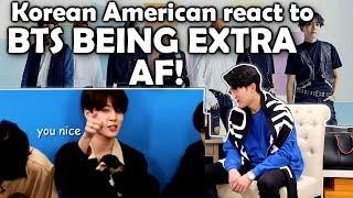 BTS BEING EXTRA AF IN AMERICA (KOREAN AMERICAN REACTION)