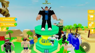 NOOB TO PRO💪NO ROBUX❌STAGES!⚡ (#6 Lifting Simulator Roblox)