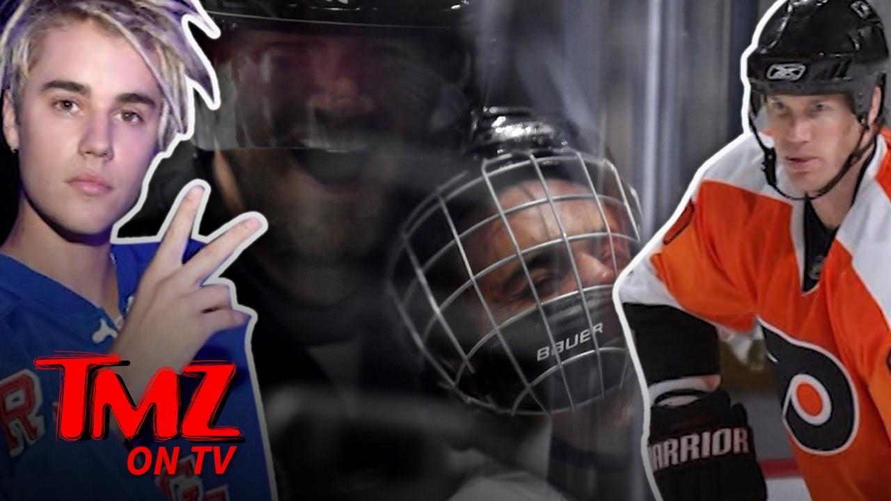 Justin Bieber aplasta y obtiene machacado durante la NHL Celeb juego | TMZ TV
