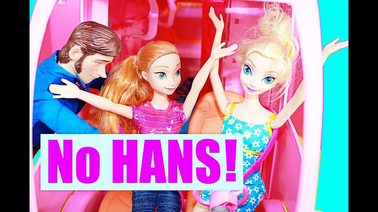 Barbie Motorhome With Frozen Hans Amp Princess Anna Rv Youtube