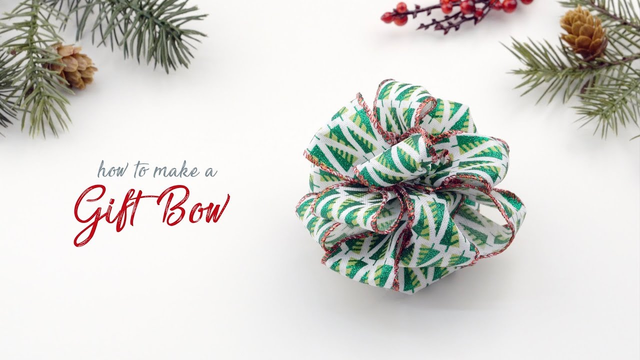 How to Make a Christmas Bow 4 Ways