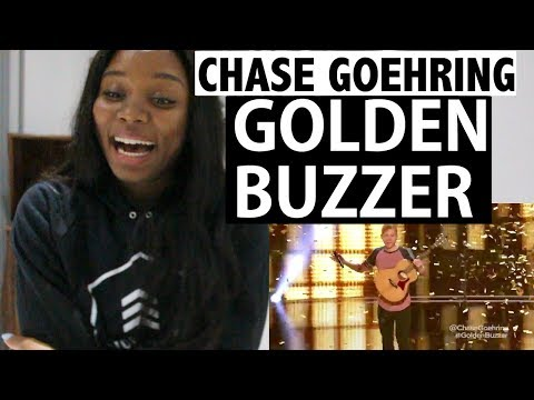 Chase Goehring - DJ Khaled's GOLDEN BUZZER - America's Got Talent - REACTION!
