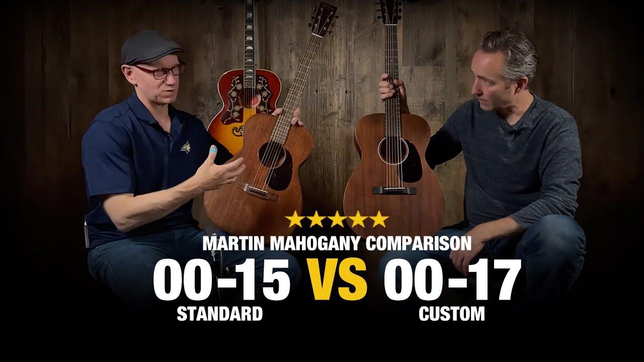 00-15M Standard vs 00-17 Custom - Martin Mahogany Comparison