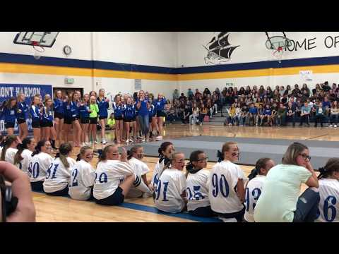 Mont Harmon Middle School Volleyball Pep Rally Dance 2018