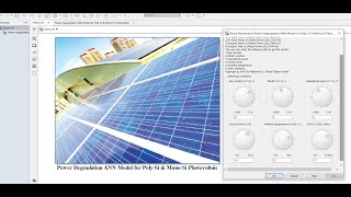 Power Degradation | of the Photovoltaic System | Matlab | Simulink | ANN Model
