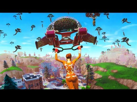 WHEN 100 PLAYERS LAND at TILTED TOWERS in FORTNITE
