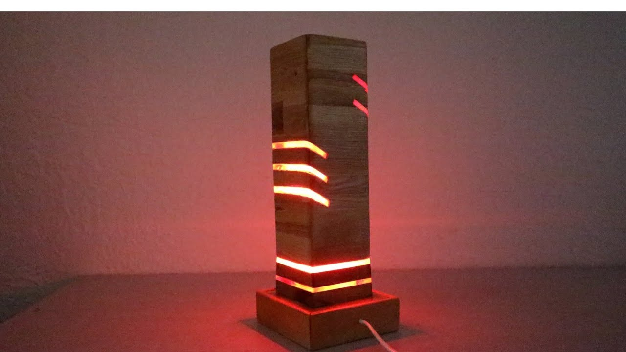 Wow !! Awesome Brilliant DIY Modern LED Desk Lamp & IDEAS