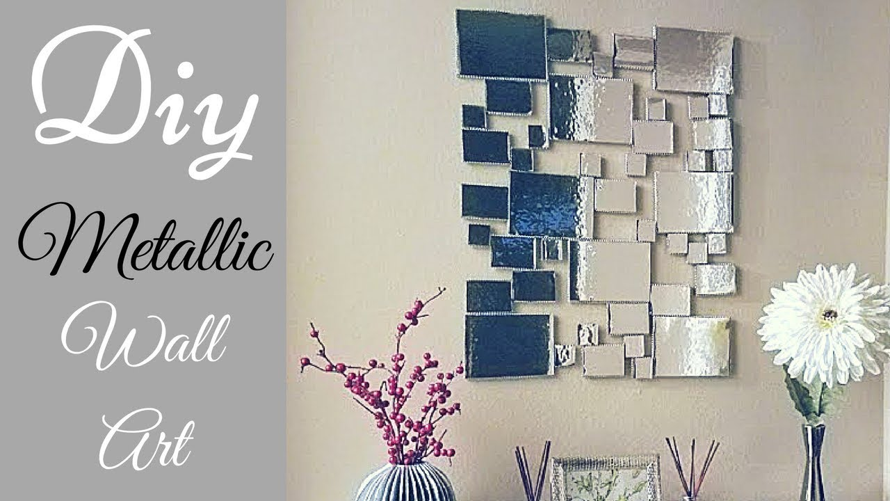 Diy Abstract Metallic Wall Decor Simple And Inexpensive